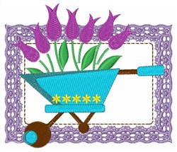 Wagon Flowers embroidery design