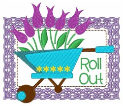 Roll Out embroidery design
