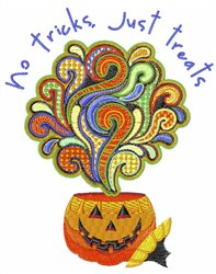 No Tricks embroidery design