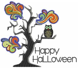 Owl Halloween embroidery design