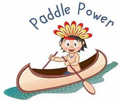 Paddle Power embroidery design
