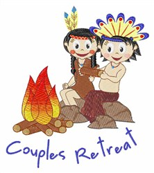 Couples Retreat embroidery design