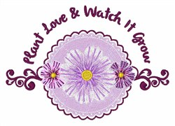Plant Love embroidery design