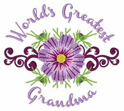 Greatest Grandma embroidery design