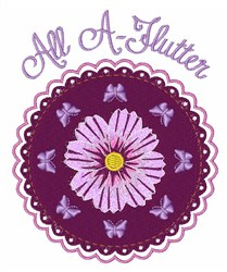 All A-Flutter embroidery design
