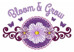 Bloom & Grow embroidery design