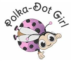 Polka-Dot Girl embroidery design