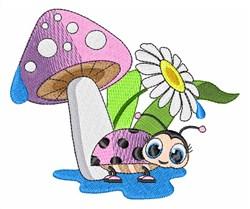 Daisy Fungus embroidery design