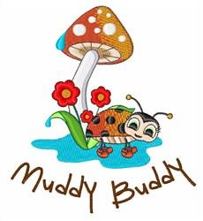 Muddy Buddy embroidery design