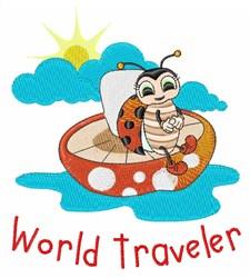 World Traveler embroidery design