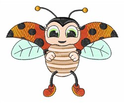 Flying Bug embroidery design