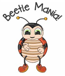 Beetle Mania! embroidery design