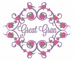 Great Gran Roses embroidery design