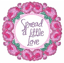 Spread Love embroidery design