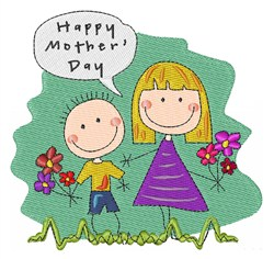 Happy Mother Day embroidery design