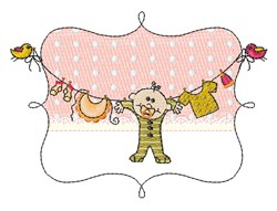 Baby Drying embroidery design