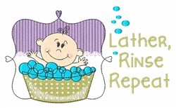 Lather Rinse Repeat embroidery design