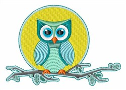 Owl Moon embroidery design