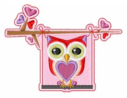 Owl Flag embroidery design