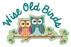 Wise Old Birds embroidery design