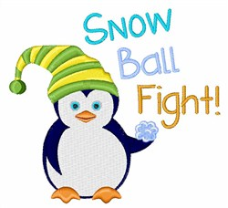 Snow Ball Fight! embroidery design