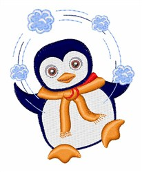 Penguin Juggler embroidery design