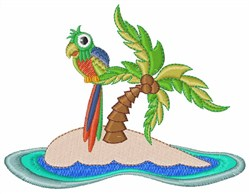 Parrot Island embroidery design
