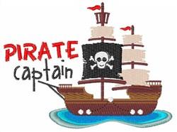 Pirate Captain embroidery design