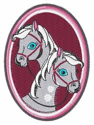 Horse Frame embroidery design