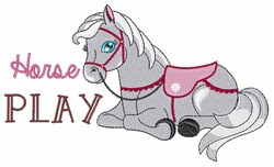 Horse Play embroidery design
