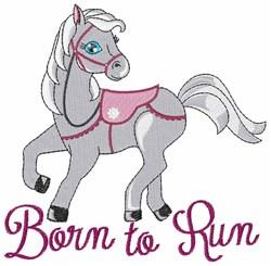 Born to Run embroidery design