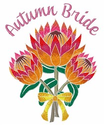 Autumn Bride embroidery design