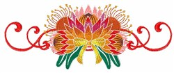 Lotus Border embroidery design