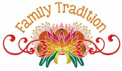 Family Tradition embroidery design