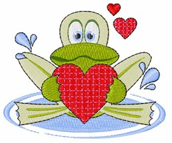 Frog Heart embroidery design