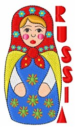 Russia Doll embroidery design