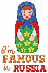 Famous in Russia embroidery design