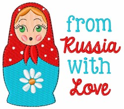 From Russia with Love embroidery design