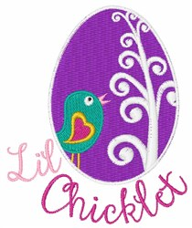 Lil Chicklet embroidery design