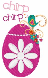 Chirp Egg embroidery design