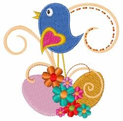 Bird Egg embroidery design