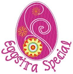 Eggstra Special embroidery design