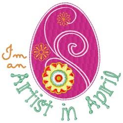 April Artist embroidery design