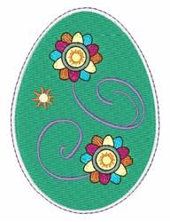 Flower Egg embroidery design