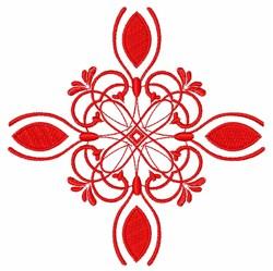 Red Swirls embroidery design