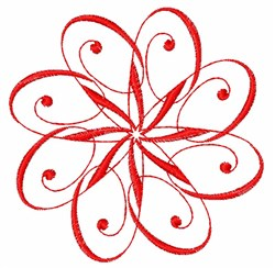 Red Swirl embroidery design