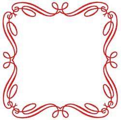Swirl Square embroidery design