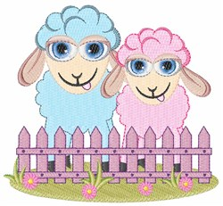 Sheep Fense embroidery design