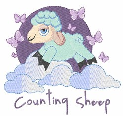 Counting Sheep embroidery design