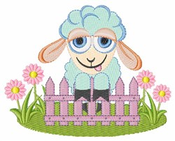 Lamb Fense embroidery design